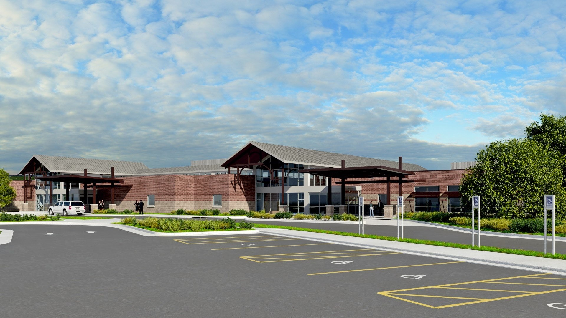 3D Rendering of the new facility under construction
